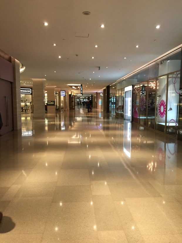 Very empty mall.