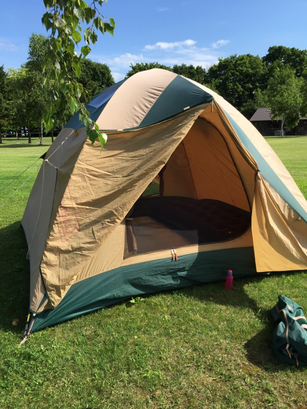 Our first ever tent!